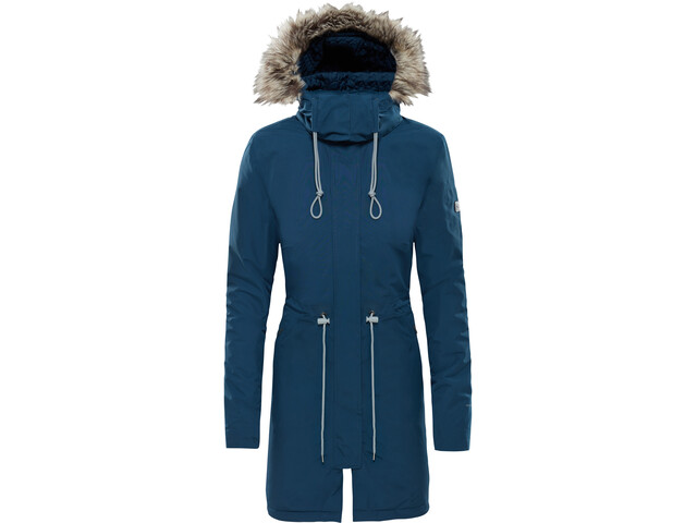 The North Face Zaneck Parka Naiset, blue wing teal/blue wing teal